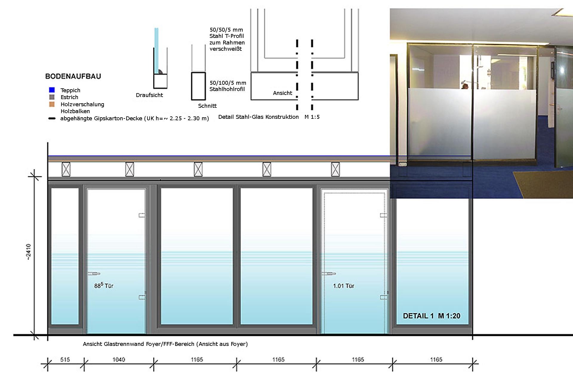 SAF (Umbau und Sanierung + Gewerbebauten) Umgestaltung alte Maschinenfabrik / neuer Bürokomplex