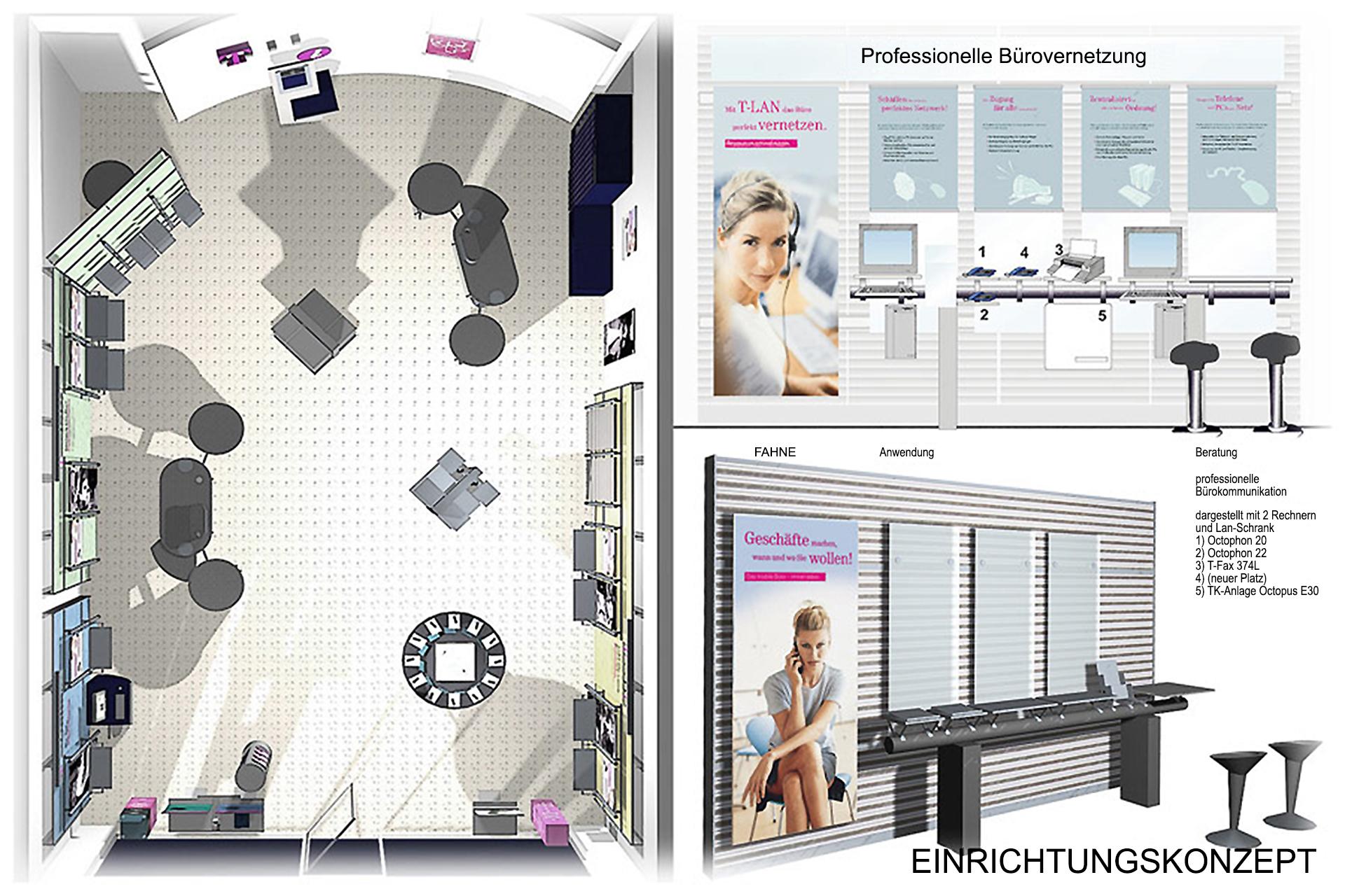 TEK (Umbau und Sanierung + Gewerbebauten) Neubau T-Mobilie Filialen