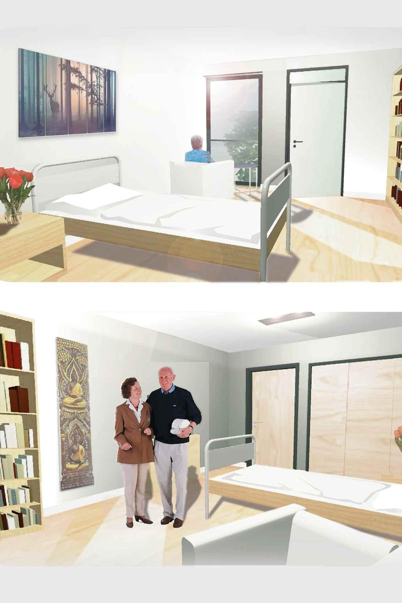 WAS (Wettbewerbe und Entwürfe + Sozial- und Sonderbauten) Umgestaltung/Anbau Alten- und Pflegeheim