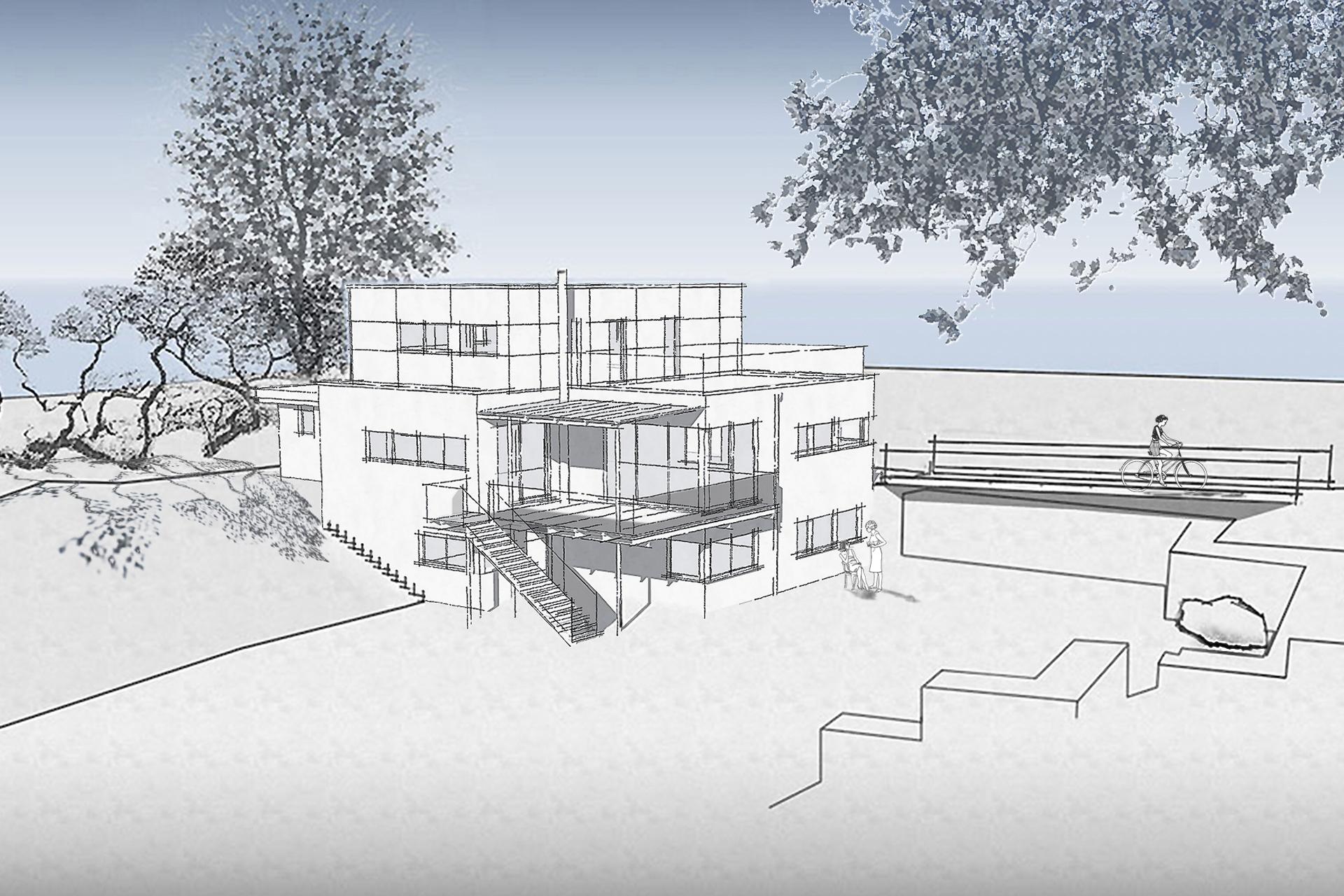 MEN (Wohnbauten) Neubau einer postmodernen Villa